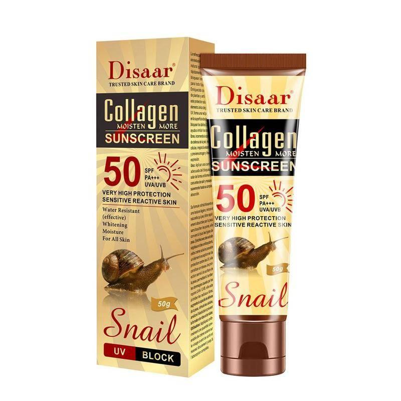 Солнцезащитный крем Disaar Sundcreen cream spf 50 pa+++ с коллагеном и экстрактом улитки