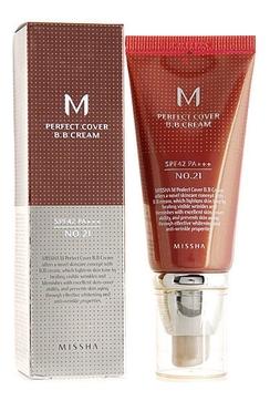 Тональный ББ крем для лица Missha M Perfect Cover BB Cream Тон 20 SPF42/PA+++ 50мл