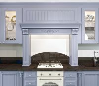 Кухня Blackberry голубая с порталом