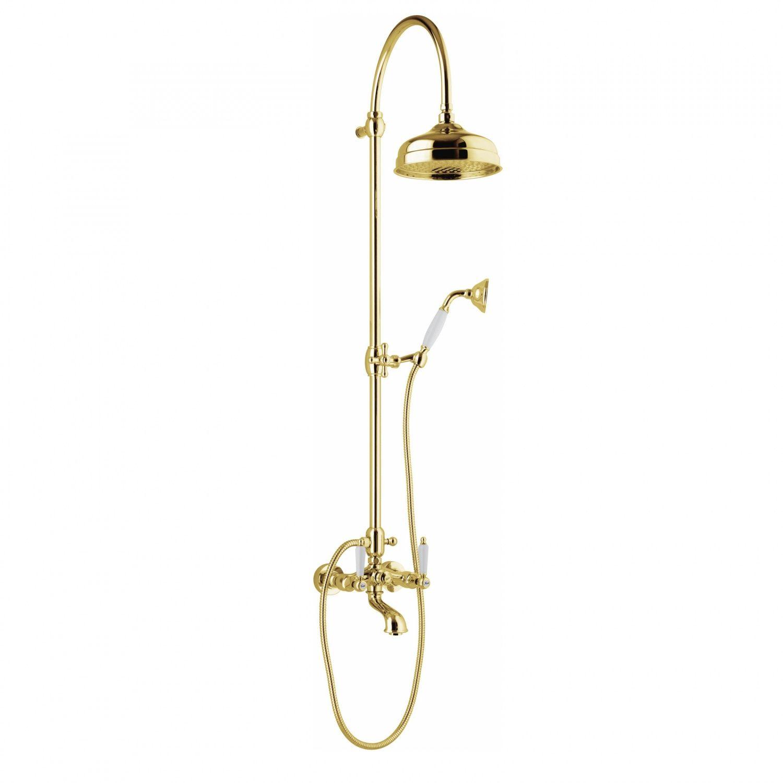 Душевая система Webert Dorian DO721208010 в золотом цвете ФОТО