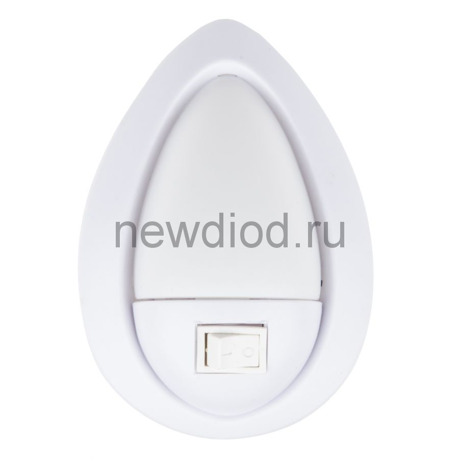 Светильник-ночник Огонек/White DTL-314 механический выключатель белый ТМ Uniel