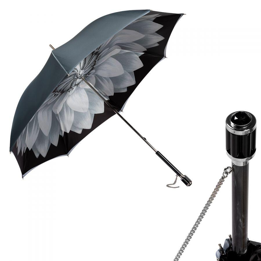 Зонт-трость Pasotti Becolore Grigio Georgin Vetro