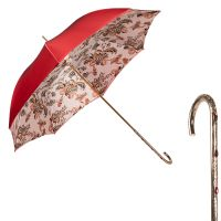 Зонт-трость Pasotti Becolore Rosso Pittura Penna Oro