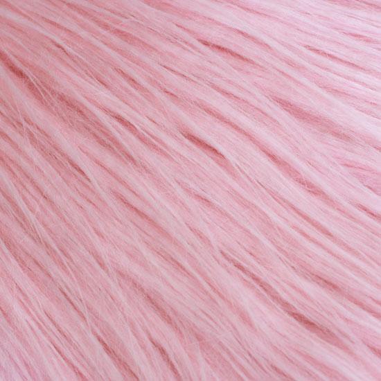 Длинноворсовый мех Розовый, прямой ворс 50х40 УЦЕНКА