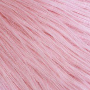 Длинноворсовый мех Розовый, прямой ворс 50х40