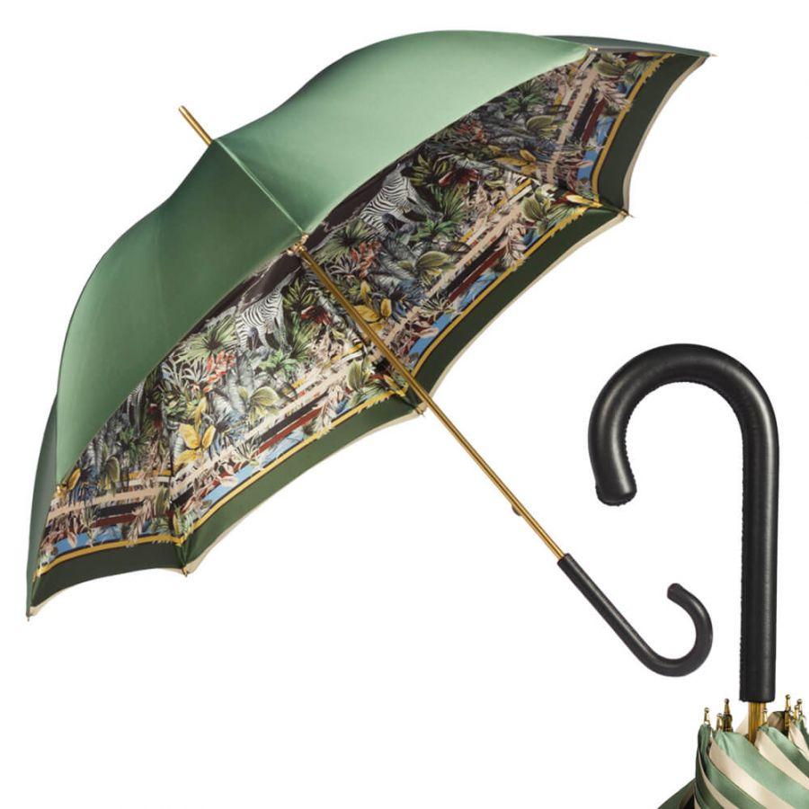 Зонт-трость Pasotti Oliva Africa Classic Pelle