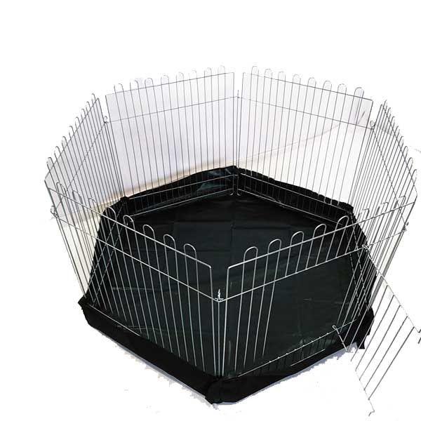 Вольер с дном круг 6х64х73 для собак щенков котят (бр прорезиненный)