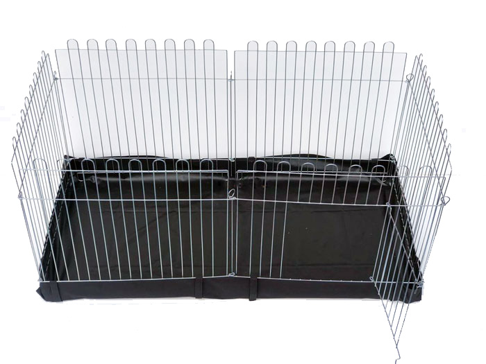Вольер с Дном для собак кошек щенков  6х64х63 прямоугольный