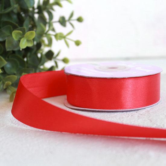 Лента атласная 25 мм, красная