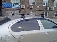 Багажник на крышу Skoda Octavia A5, Lux, крыловидные дуги
