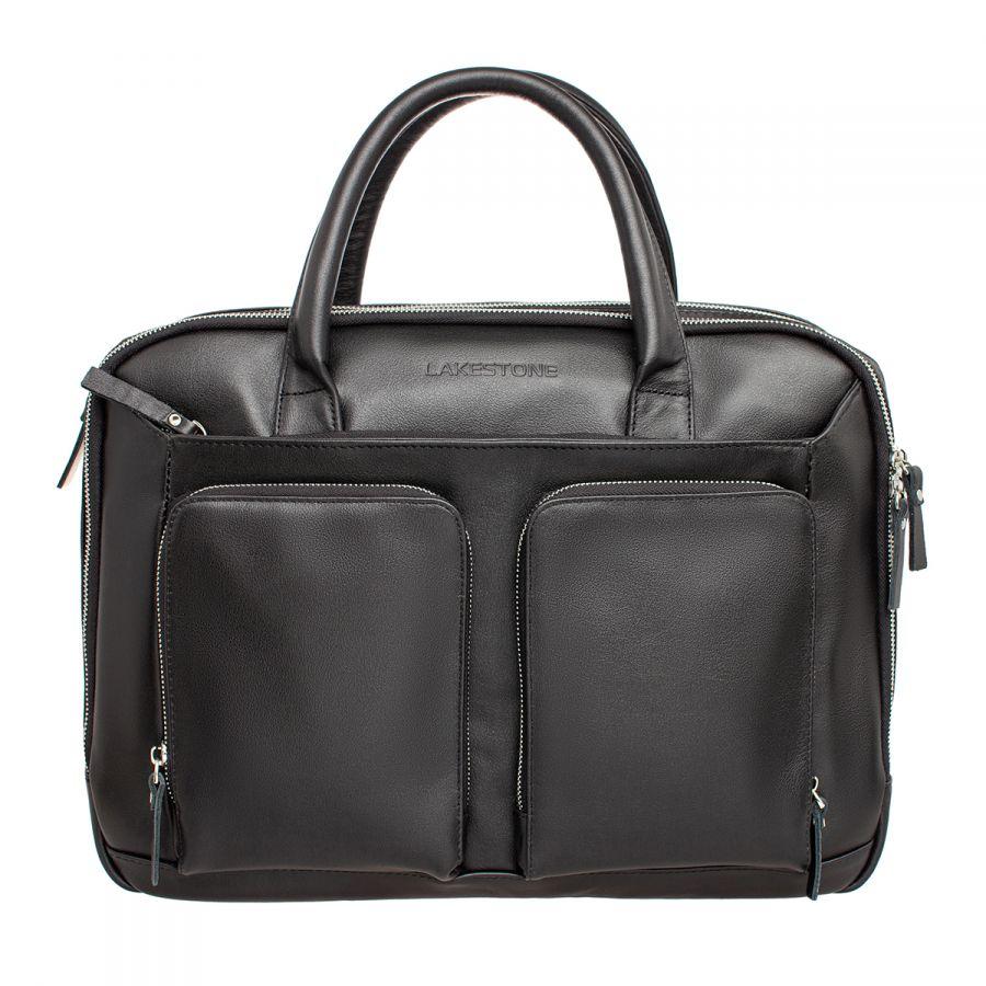 Кожаная мужская деловая сумка Lakestone Raynes Black