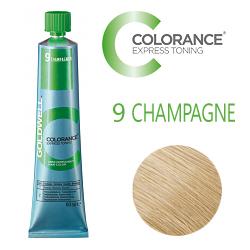 Goldwell Colorance Express Toning 9 CHAMPAGNE - Тонирующая крем-краска Шампань блонд 60 мл