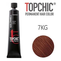 Goldwell Topchic 7KG - Стойкая краска для волос - Медный золотистый блондин 60 мл.
