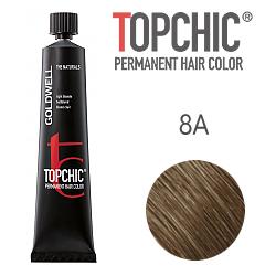 Goldwell Topchic 8A - Стойкая краска для волос - Светло-русый пепельный 60 мл.