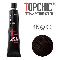 Goldwell Topchic 4N@KK - Стойкая краска для волос Средне-коричневый с интенсивно-медным сиянием 60 мл
