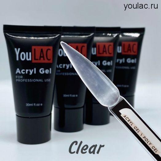 Акригель YouLAC Clear (прозрачный) Universal , 30 мл