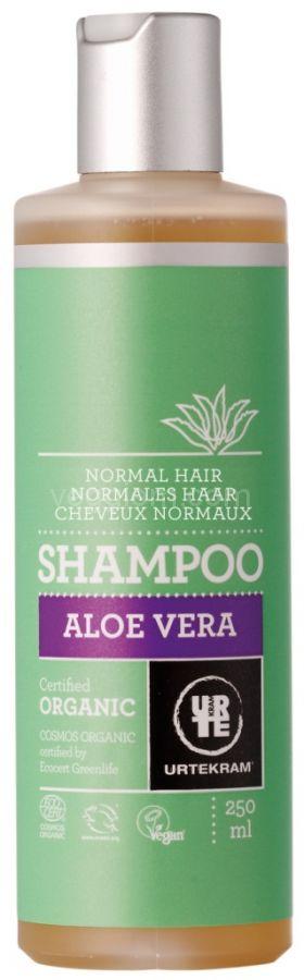 Органический шампунь Алоэ Вера для нормальных волос Urtekram, 250 мл