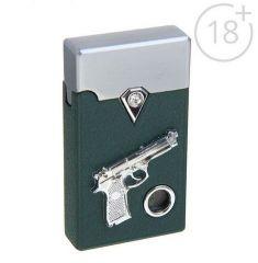 Зажигалка Револьвер с подсветкой