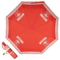 Зонт складной Moschino 8872-OCC Logo Red