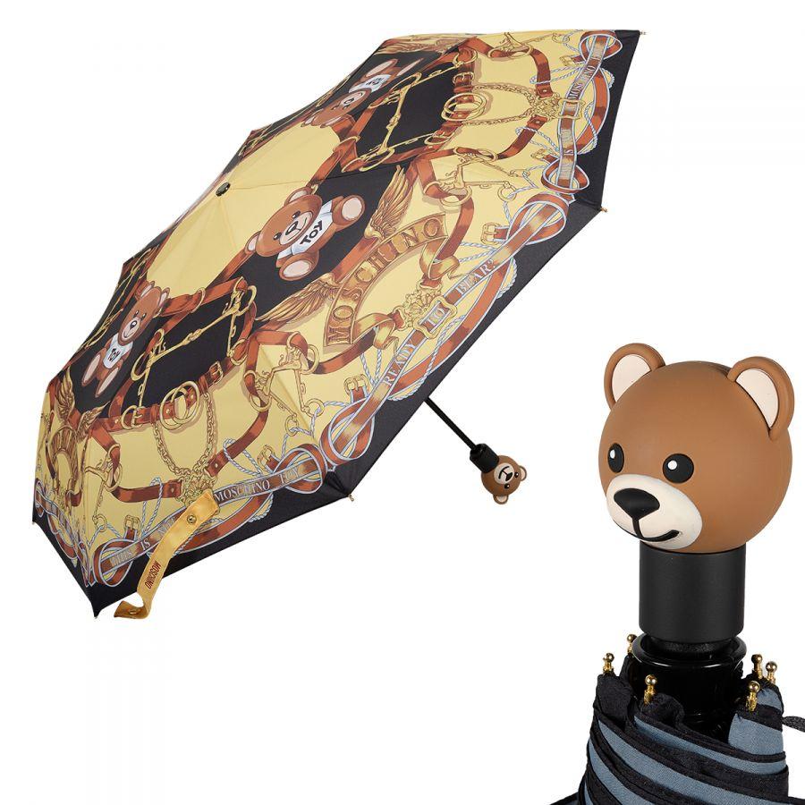 Зонт складной Moschino 8036-OCA Belts Bear Multi