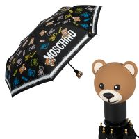 Зонт складной Moschino 8033-OCA Toy Spray Black