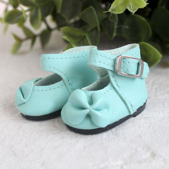 Обувь для кукол - Сандалии высокие с бантиком мятные, 4 см.