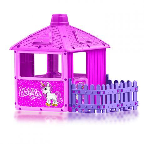 Домик с забором для девочек Dolu 2511