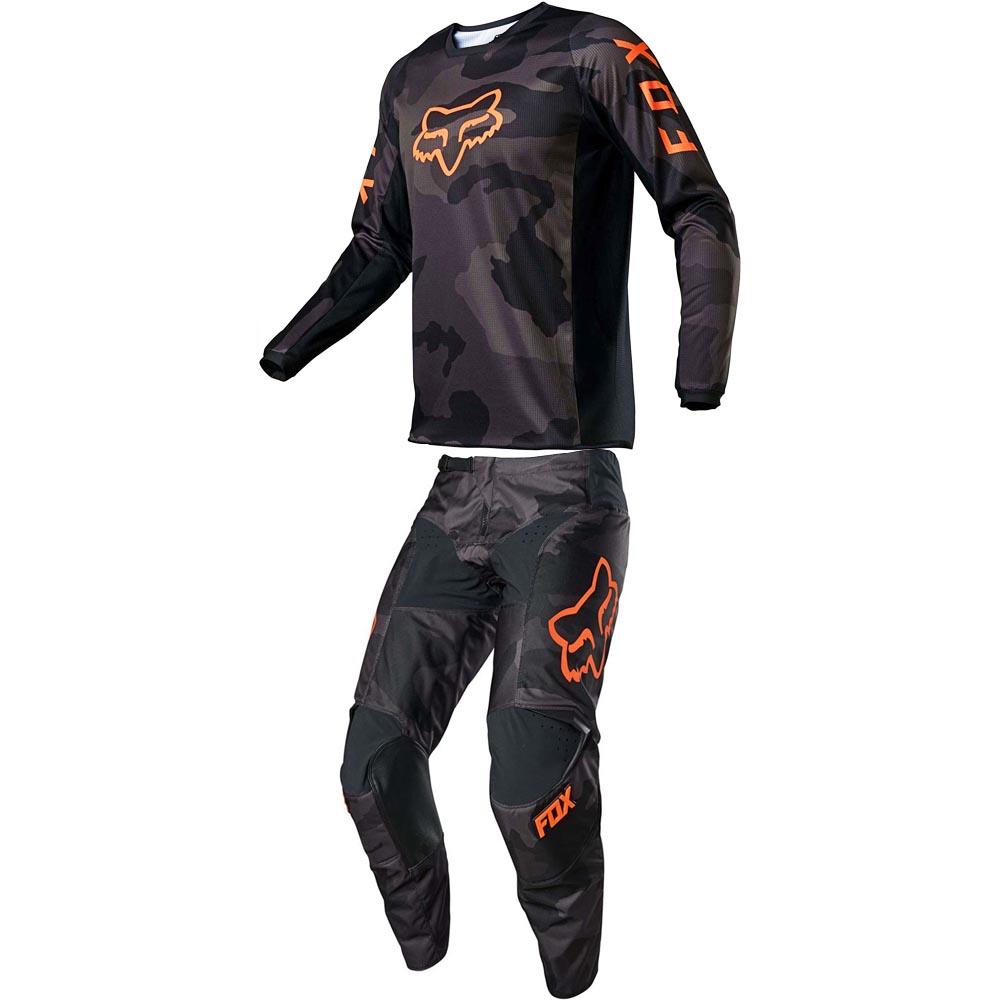 Fox 180 Trev Black Camo джерси и штаны для мотокросса