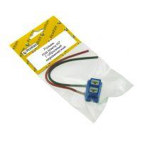 RK04181 * Разъем под лампу H7 Г-образный керамический (с проводами сечением 1.0 мм, длина 120 мм)