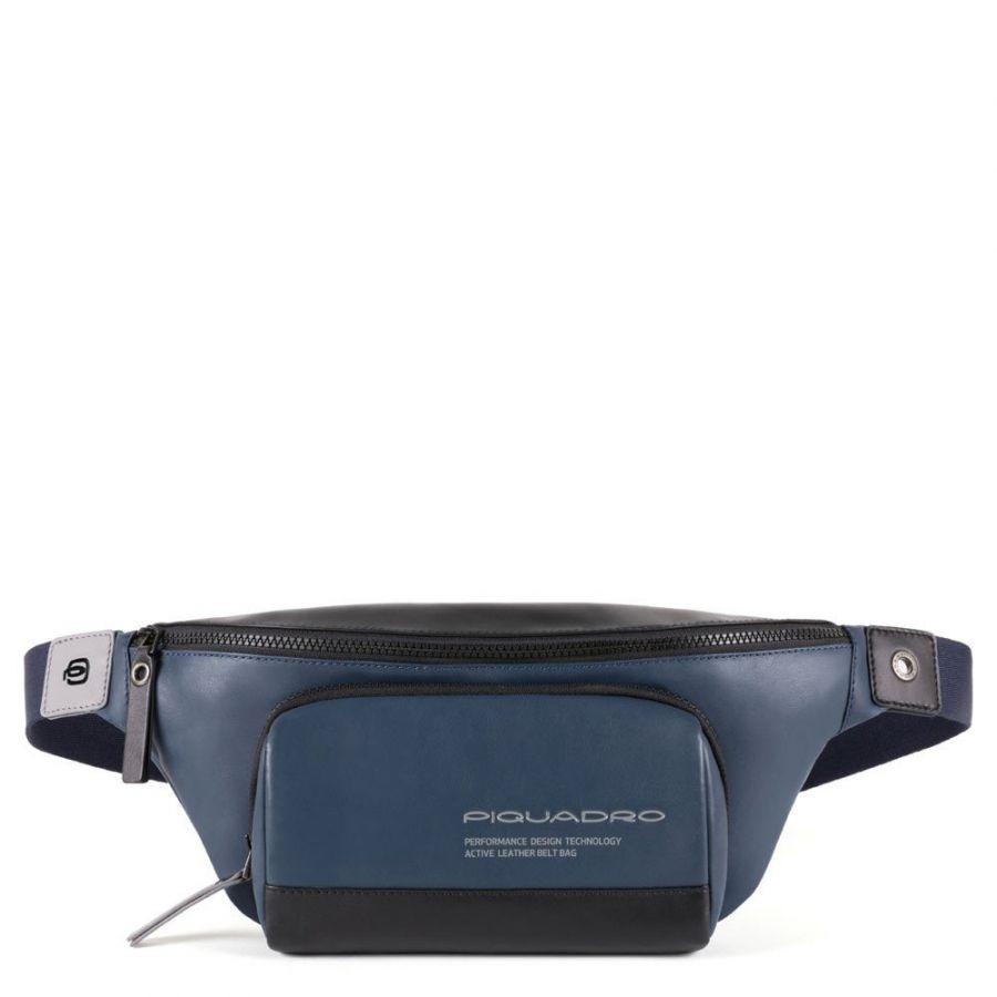 Поясная сумка Piquadro CA4450DT/BLU кожаная синяя
