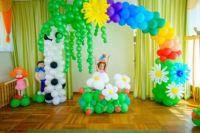 Оформление из шаров на выпускной в детском саду