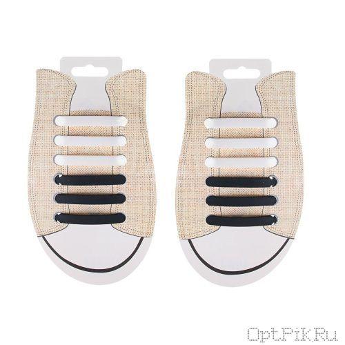 Черно-белые силиконовые шнурки