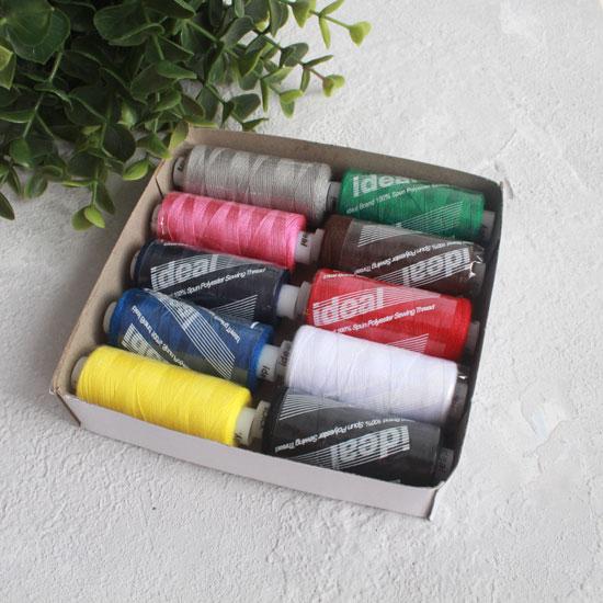 Набор ниток IDEAL, ассорти Базовые цвета (10 катушек)