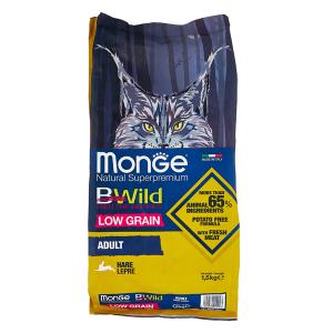 Сухой корм для кошек Monge BWILD Feed the Instinct с зайцем 1.5 кг