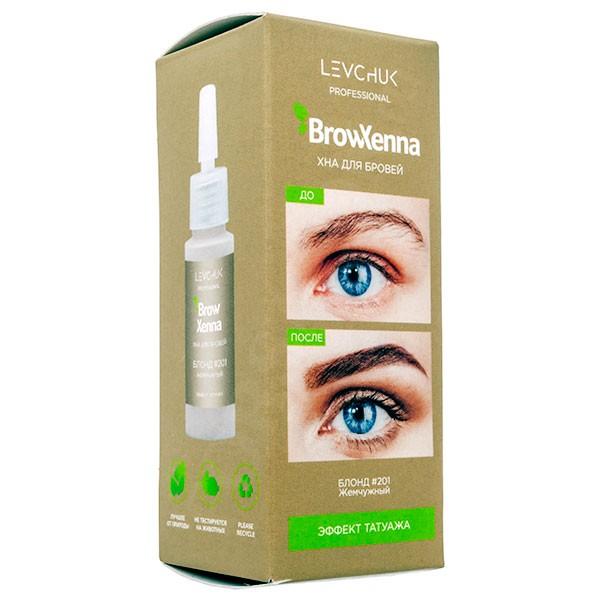 BrowXenna для бровей Блонд #201, жемчужный (флакон), 10 мл.