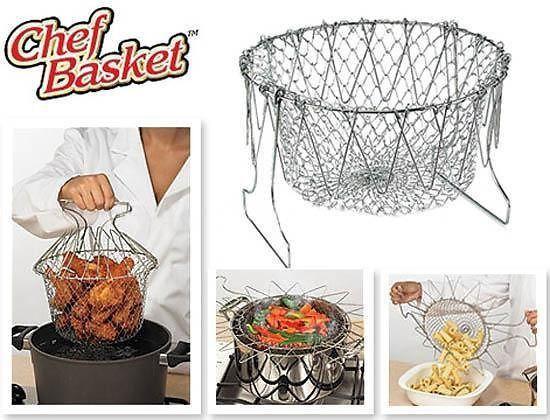 Решётка складная для приготовления пищи Chef Basket (Шеф Баскет)