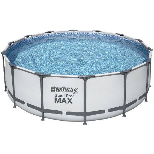 Каркасный бассейн Bestway 5612Z (488х122 см) с картр. фильтром, лестницей и тентом