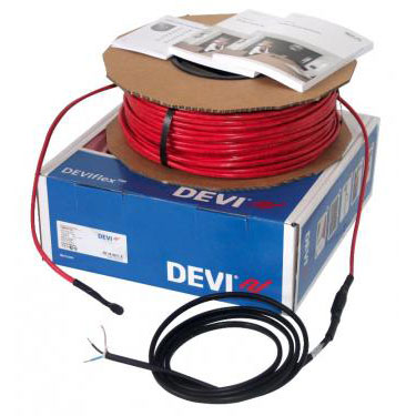 DEVIflex 18T 165 / 180 Вт, длина 10 м, обогрев 0,9-1,3м2