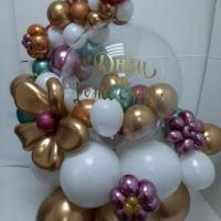 Композиция из шаров С днём рождения
