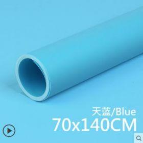 Фон пластиковый ПВХ 70х140 для предметной съемки голубой