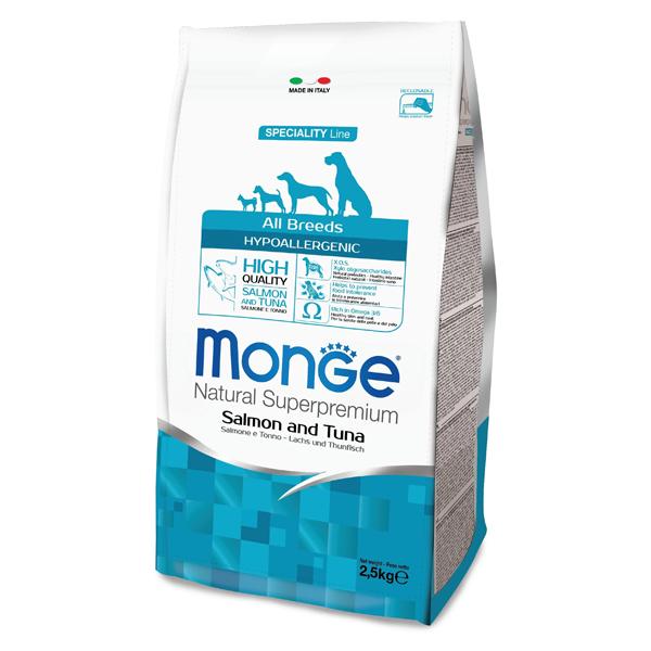 Сухой корм для собак Speciality line Hypoallergenic лосось тунец 2.5 кг