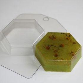 Пластиковая форма для мыла и шоколада Шестигранник