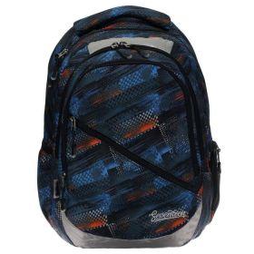 Рюкзак молодёжный, Очертания, 47 x 33 x 13 см, эргономичная спинка, синий.