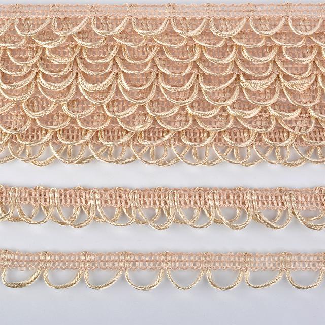 Тесьма декоративная плетеная c воздушными петлями 18 мм. разные цвета (UU)