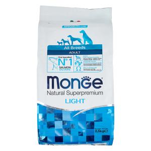 Сухой корм для собак Monge Speciality line Light лосось с рисом 2.5 кг