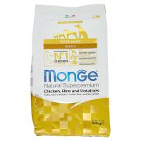 Сухой корм для собак Monge Speciality line Monoprotein с курицей рисом и картофелем 2.5 кг