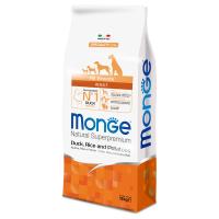 Сухой корм для собак Monge Speciality line с уткой рисом и картофелем 12 кг