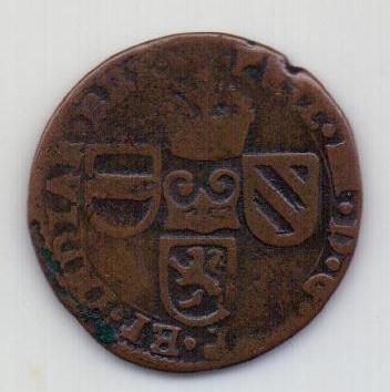 1 лиард 1624 Брабант RARE Испанские Нидерланды XF