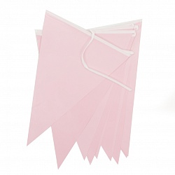Гирлянда Флажки, Розовый, 28*300 см, 1 шт.