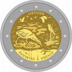 Биосферный заповедник Зувинтас 2 евро Литва 2021